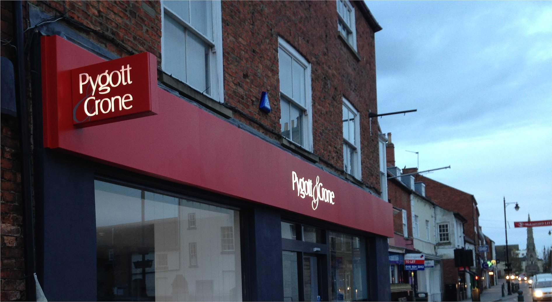 Pygott & Crone Estate Agents Signage - Sign Printing and Installation by Envirosigns Ltd