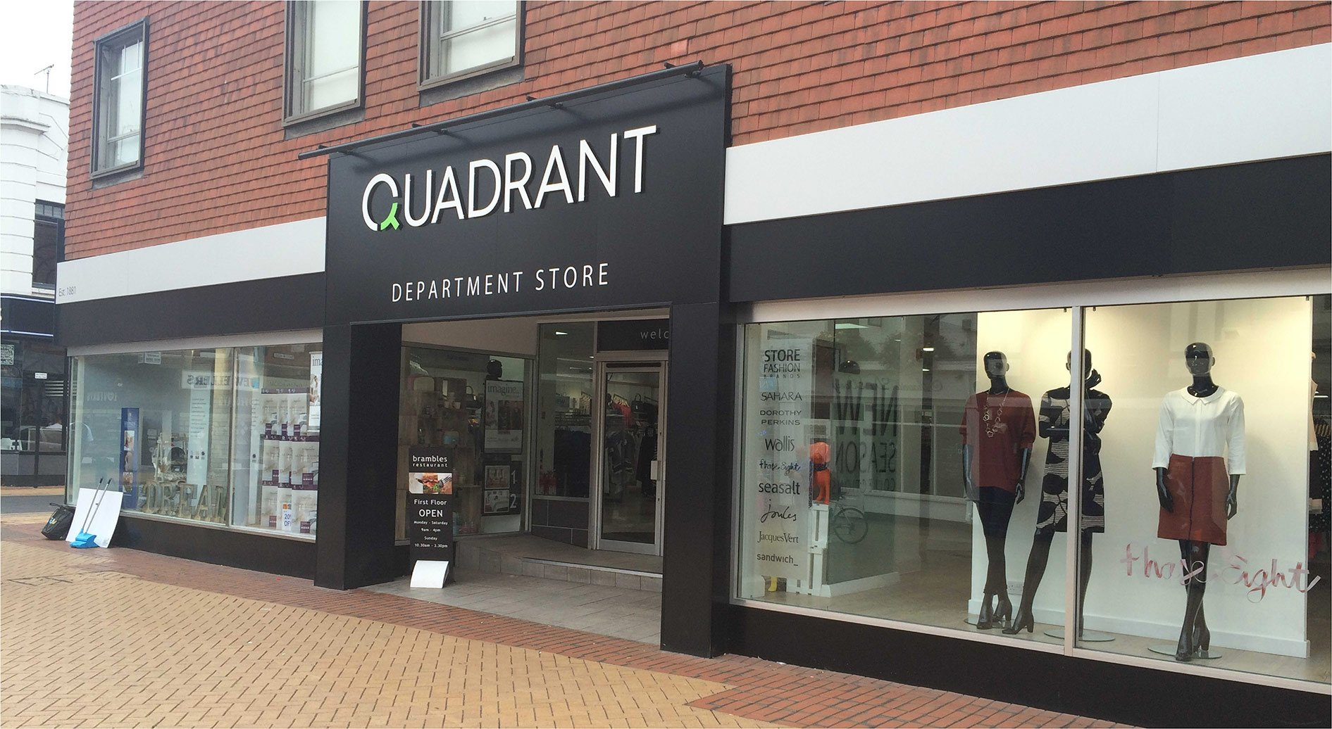 Quadrant Department Store Signage - Sign Printing and Installation by Envirosigns Ltd