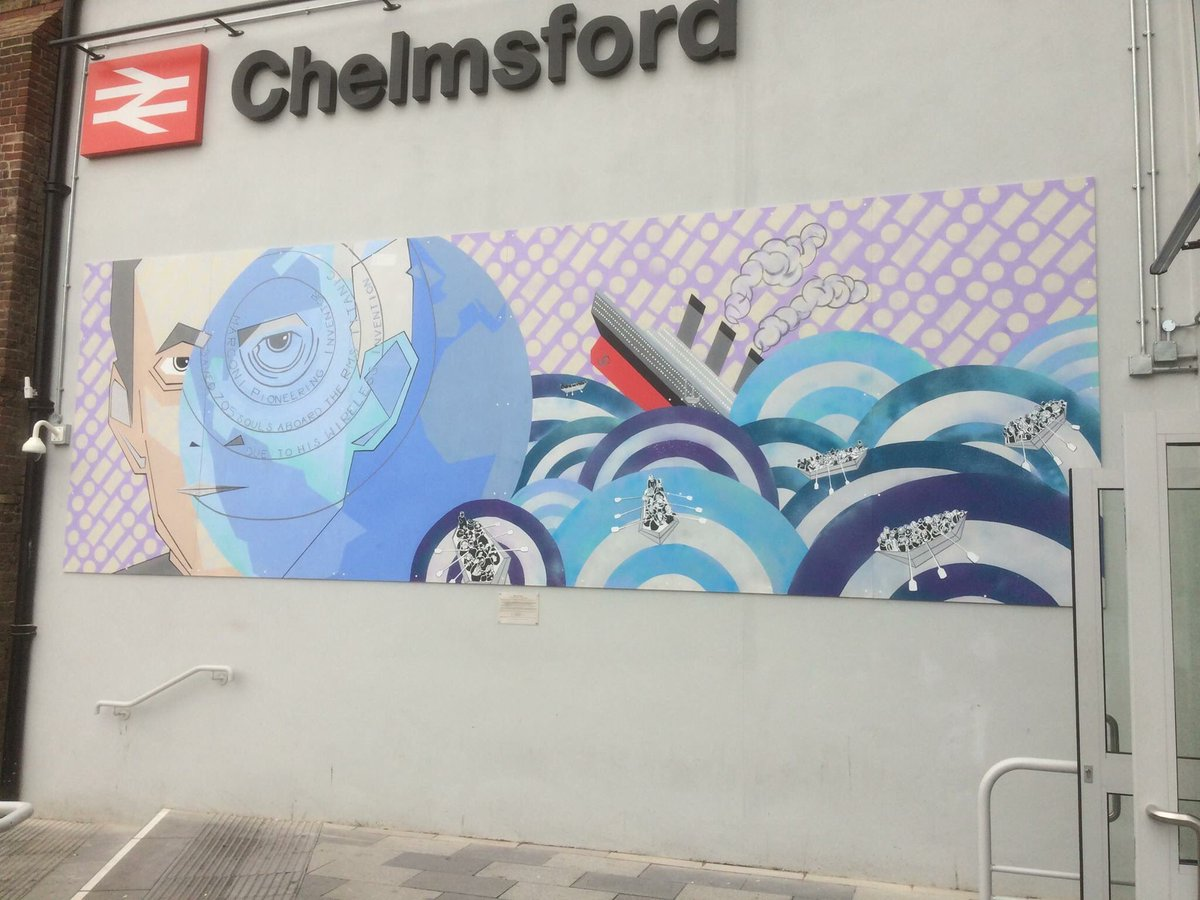 Marconi Mural – Chelmsford Train Station