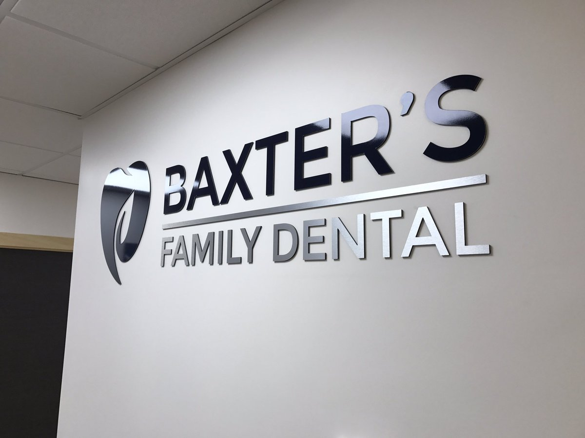 Baxter's Family Dental Reception Signs